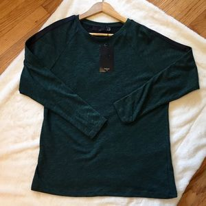 NWT Forest Green Zara Long Sleeve Top